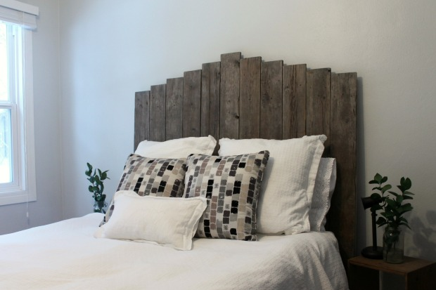 Make your own weathered wood headboard Make your own headboard
